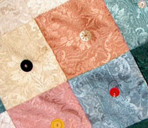 Close Up of Button Quilt