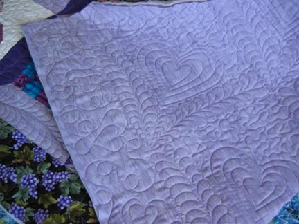 Le Ann's quilting (back view)