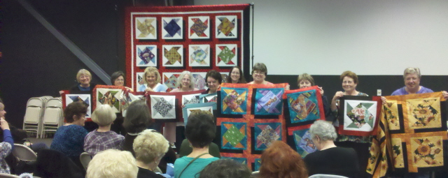 Edmond Quilters in the Fortune Cookie Workshop