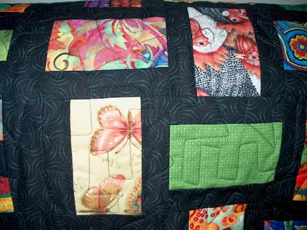 Machine quilting by Mary Covey